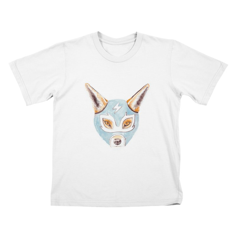 Andrew, the Fox Wrestler Kids T-shirt by Speakerine / Florent Bodart