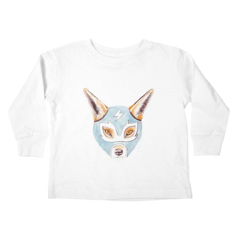 Andrew, the Fox Wrestler Kids Toddler Longsleeve T-Shirt by Speakerine / Florent Bodart