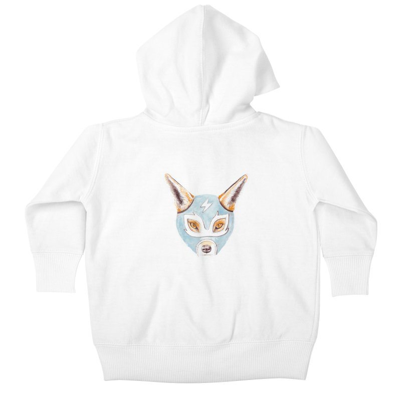 Andrew, the Fox Wrestler Kids Baby Zip-Up Hoody by Speakerine / Florent Bodart