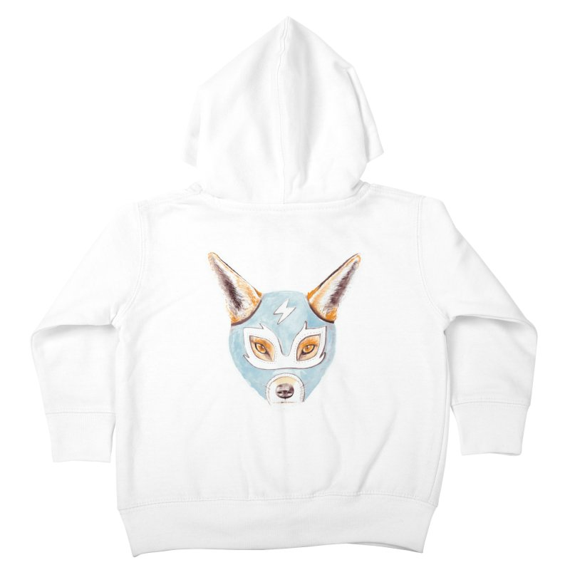 Andrew, the Fox Wrestler Kids Toddler Zip-Up Hoody by Speakerine / Florent Bodart