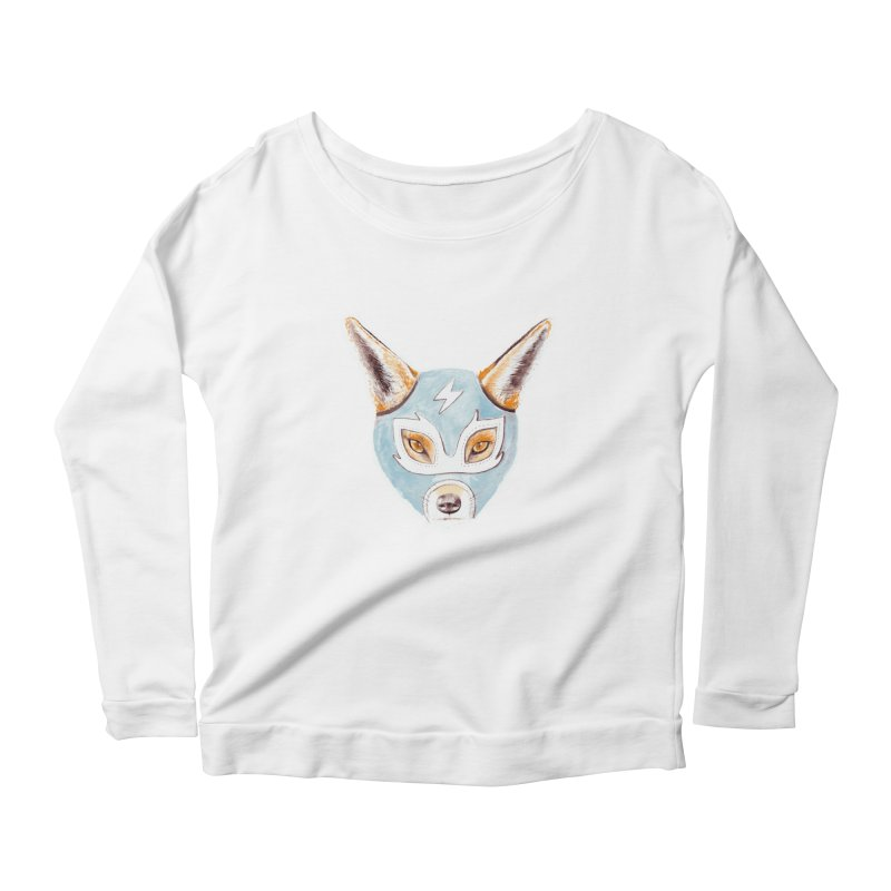 Andrew, the Fox Wrestler Women's Longsleeve Scoopneck  by Speakerine / Florent Bodart
