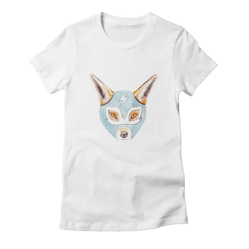 Andrew, the Fox Wrestler Women's Fitted T-Shirt by Speakerine / Florent Bodart