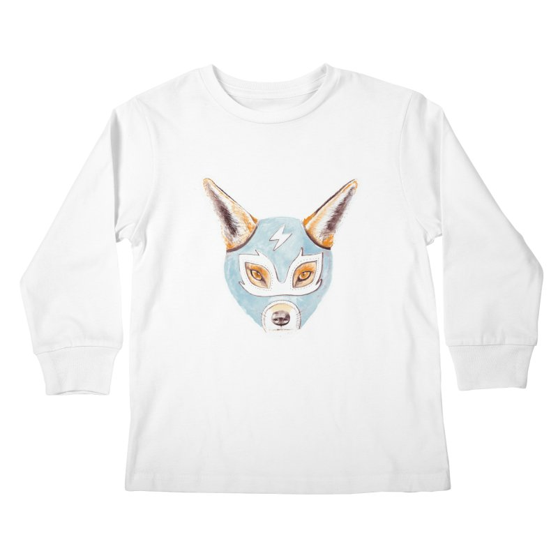 Andrew, the Fox Wrestler Kids Longsleeve T-Shirt by Speakerine / Florent Bodart