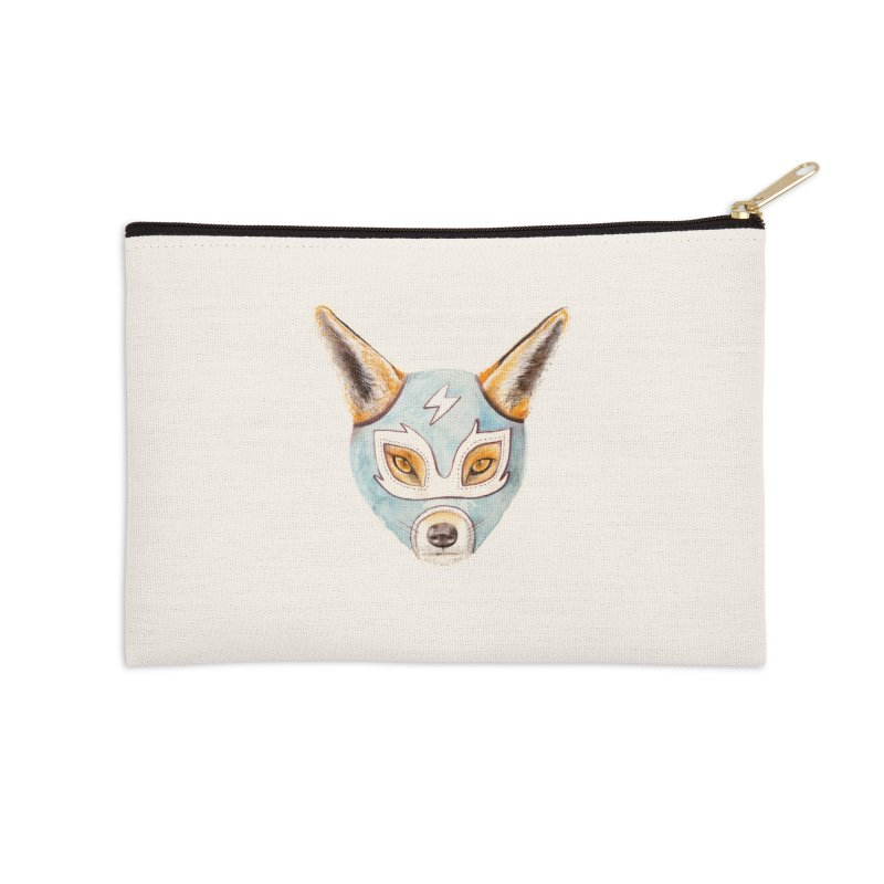 Andrew, the Fox Wrestler Accessories Zip Pouch by Speakerine / Florent Bodart
