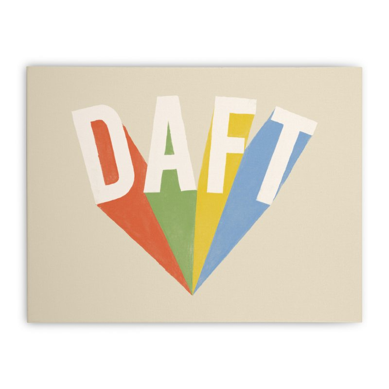 Daft Home Stretched Canvas by Speakerine / Florent Bodart