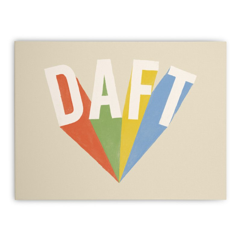 Daft Home Stretched Canvas by Speakerine / Florent Bodart