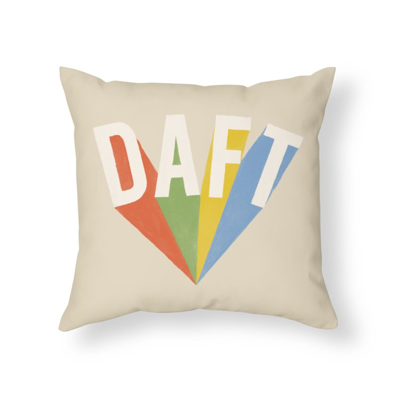 Daft Home Throw Pillow by Speakerine / Florent Bodart