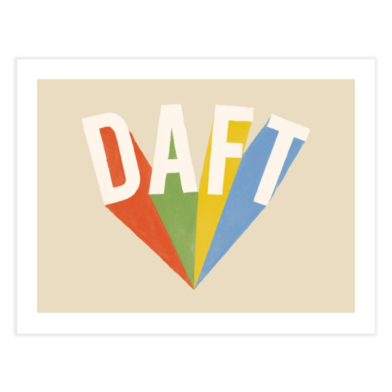 Daft Home Fine Art Print by Speakerine / Florent Bodart