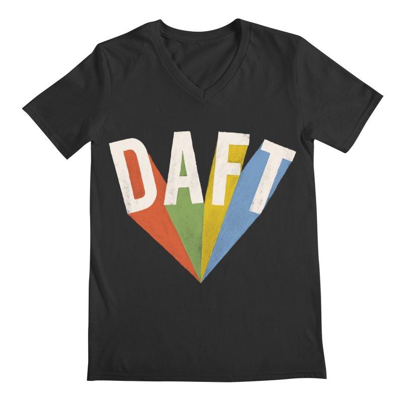 Daft Men's V-Neck by Speakerine / Florent Bodart