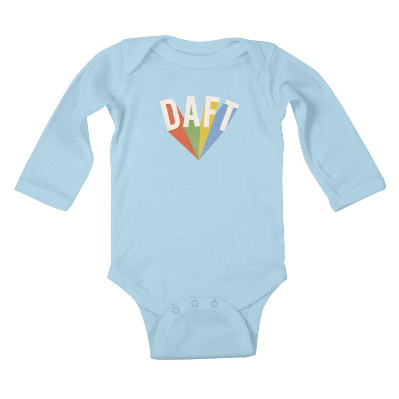 Daft Kids Baby Longsleeve Bodysuit by Speakerine / Florent Bodart