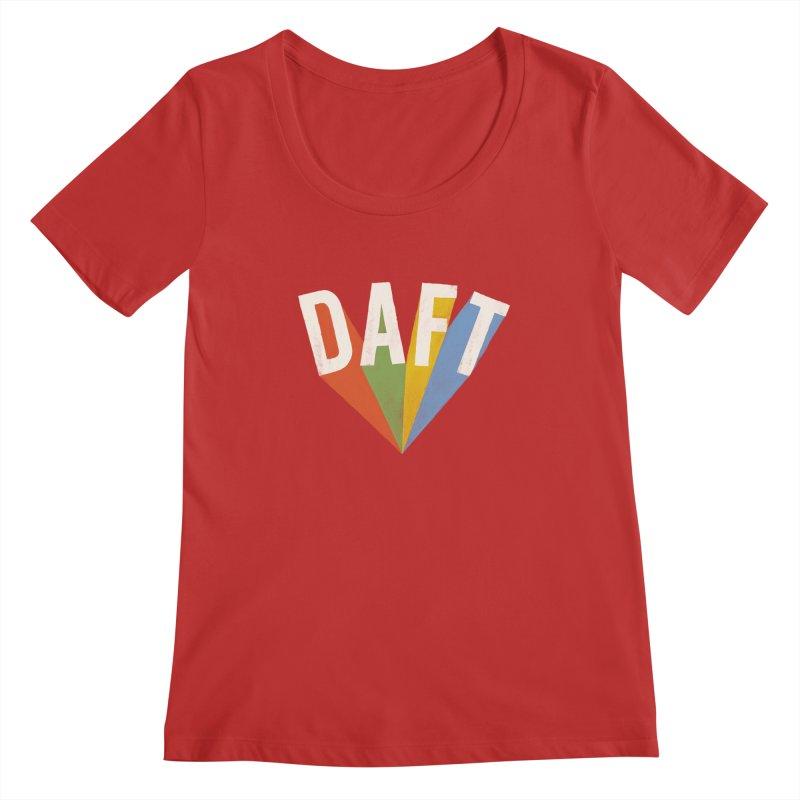 Daft Women's Regular Scoop Neck by Speakerine / Florent Bodart