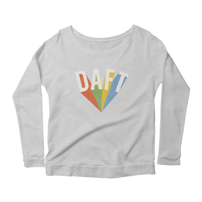 Daft Women's Scoop Neck Longsleeve T-Shirt by Speakerine / Florent Bodart