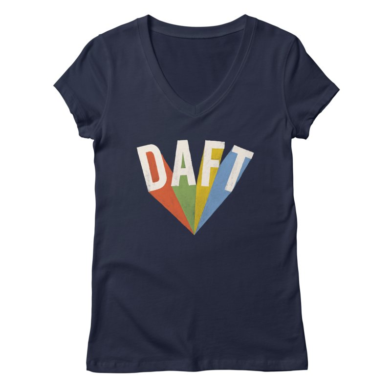 Daft Women's Regular V-Neck by Speakerine / Florent Bodart