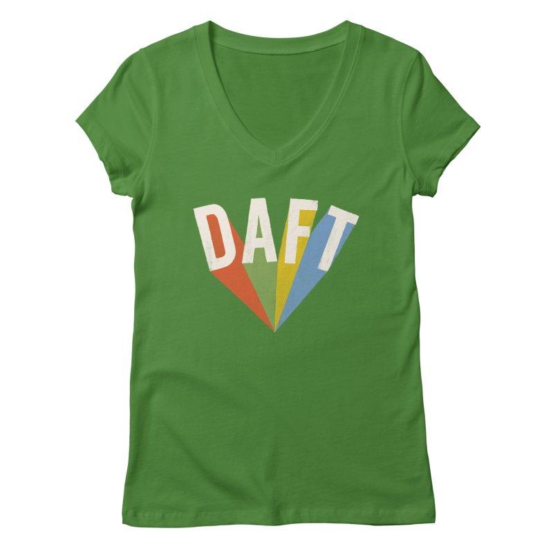 Daft Women's Regular V-Neck by Speakerine / Florent Bodart