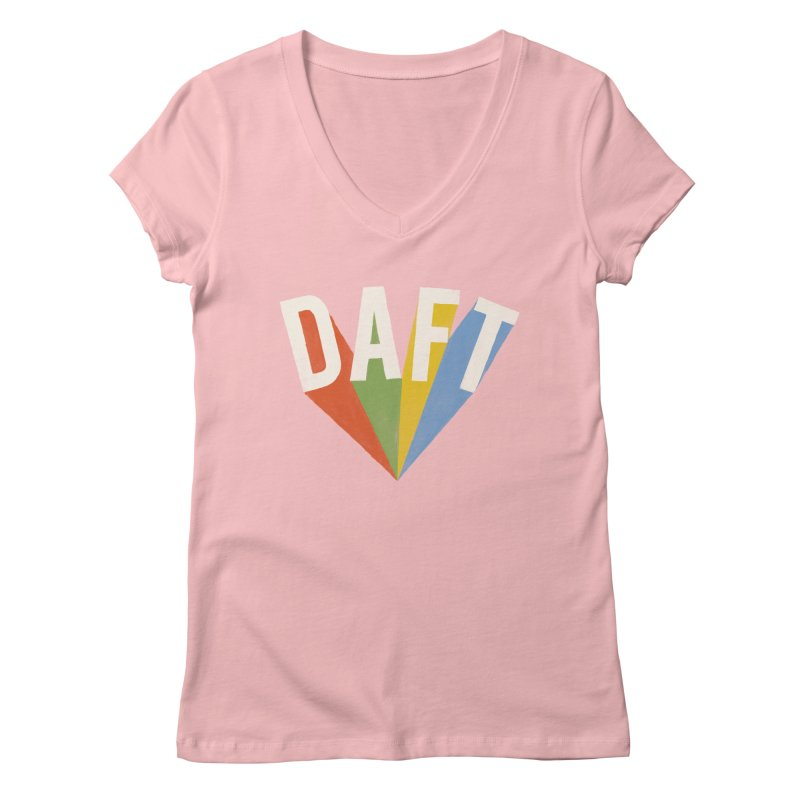 Daft Women's V-Neck by Speakerine / Florent Bodart