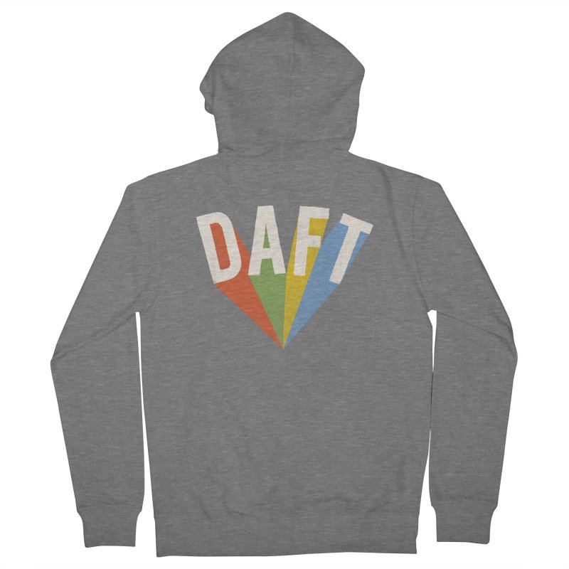 Daft Men's French Terry Zip-Up Hoody by Speakerine / Florent Bodart