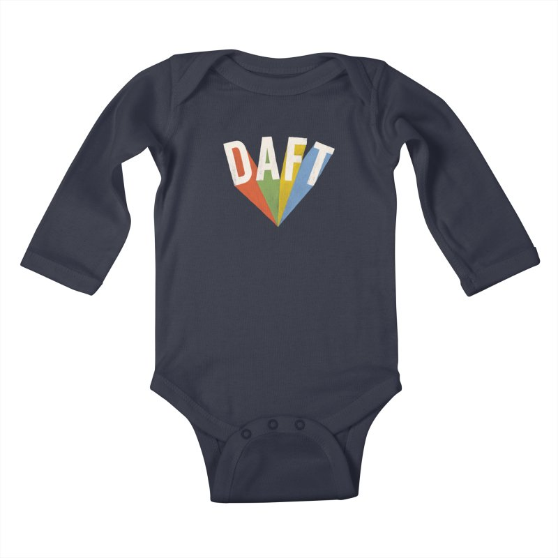 Daft Kids Baby Longsleeve Bodysuit by Speakerine / Florent Bodart
