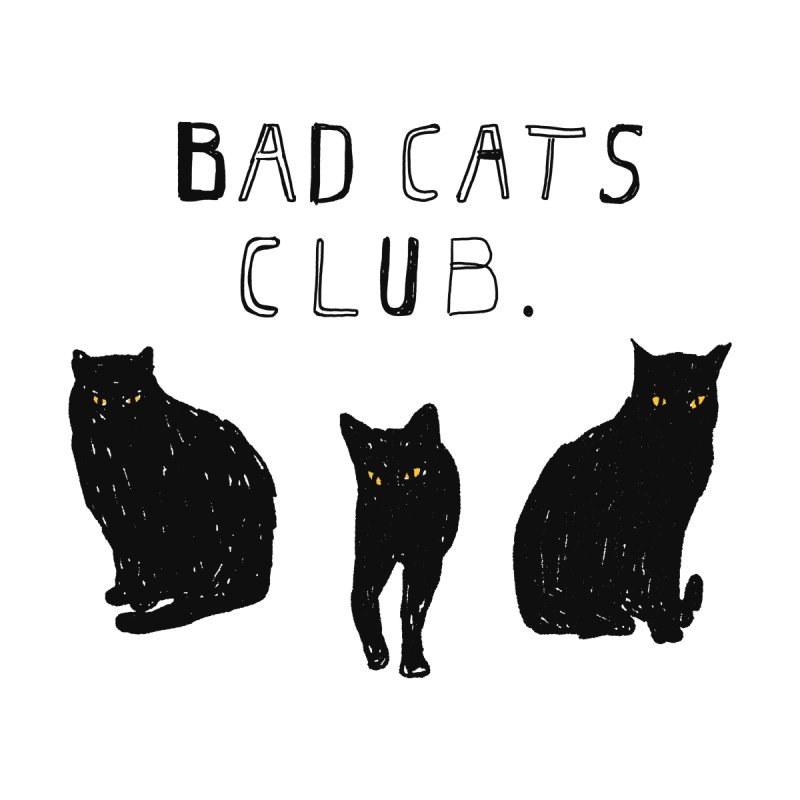 Bad Cats Club Accessories Skateboard by Speakerine / Florent Bodart