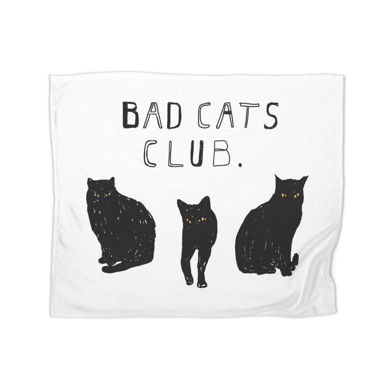 Bad Cats Club Home Blanket by Speakerine / Florent Bodart