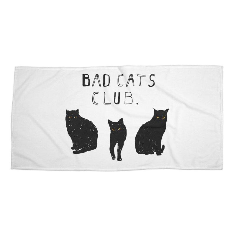 Bad Cats Club Accessories Beach Towel by Speakerine / Florent Bodart