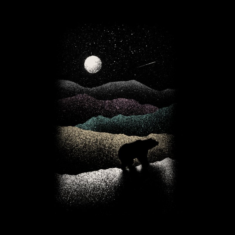 Wandering Bear Kids T-Shirt by Speakerine / Florent Bodart