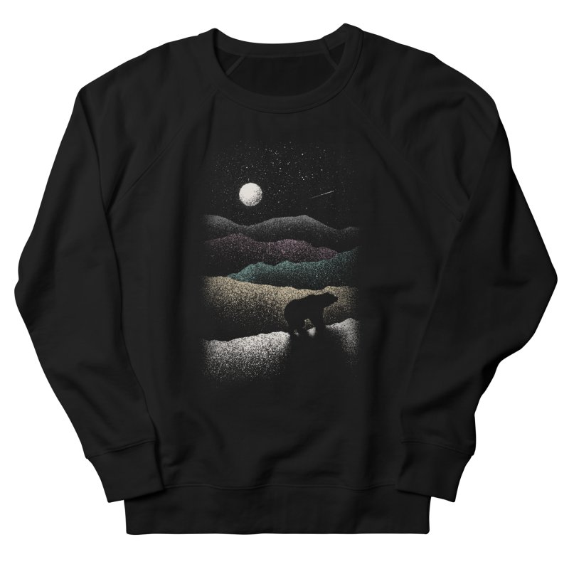 Wandering Bear Men's French Terry Sweatshirt by Speakerine / Florent Bodart