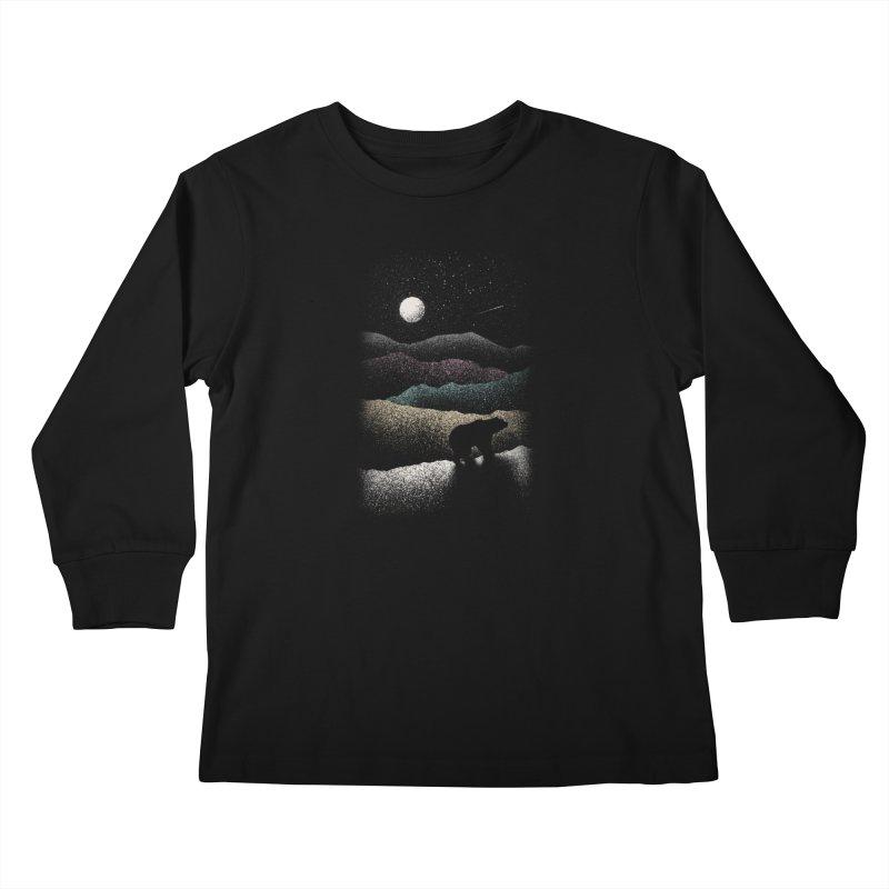 Wandering Bear Kids Longsleeve T-Shirt by Speakerine / Florent Bodart