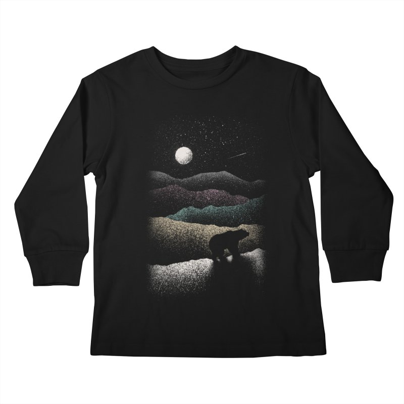 Wandering Bear Kids Longsleeve T-Shirt by Speakerine / Florent Bodart