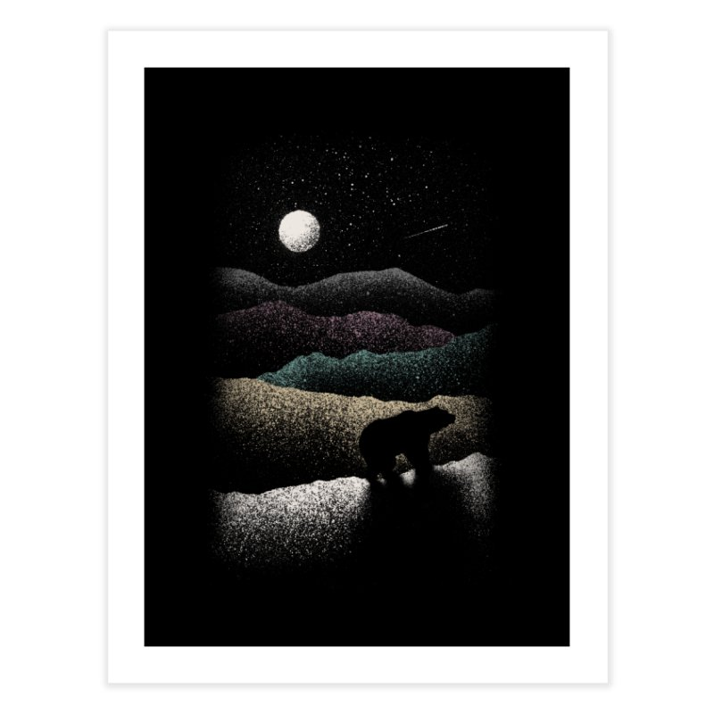 Wandering Bear Home Fine Art Print by Speakerine / Florent Bodart