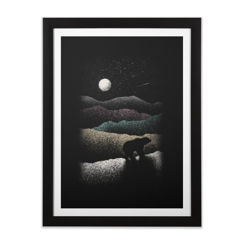 Wandering Bear Home Framed Fine Art Print by Speakerine / Florent Bodart