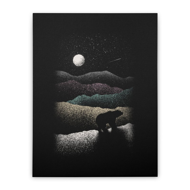 Wandering Bear Home Stretched Canvas by Speakerine / Florent Bodart