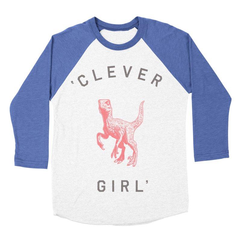 Clever GIrl Women's Baseball Triblend Longsleeve T-Shirt by Speakerine / Florent Bodart