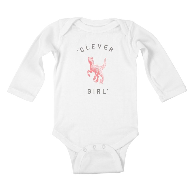 Clever GIrl Kids Baby Longsleeve Bodysuit by Speakerine / Florent Bodart