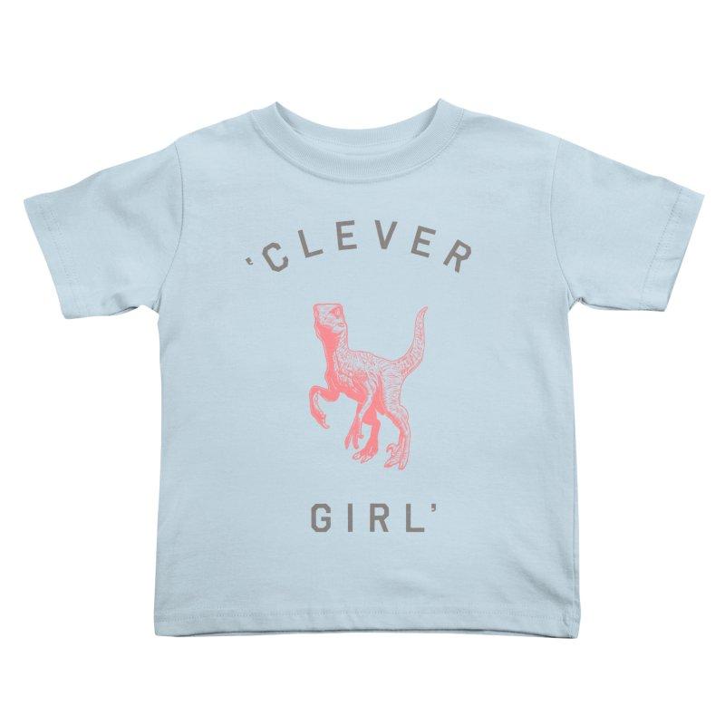 Clever GIrl Kids Toddler T-Shirt by Speakerine / Florent Bodart