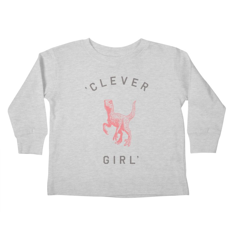 Clever GIrl Kids Toddler Longsleeve T-Shirt by Speakerine / Florent Bodart