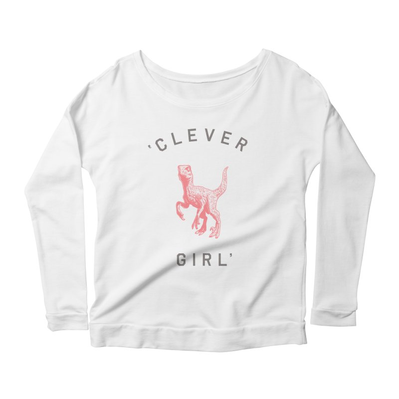 Clever GIrl Women's Scoop Neck Longsleeve T-Shirt by Speakerine / Florent Bodart