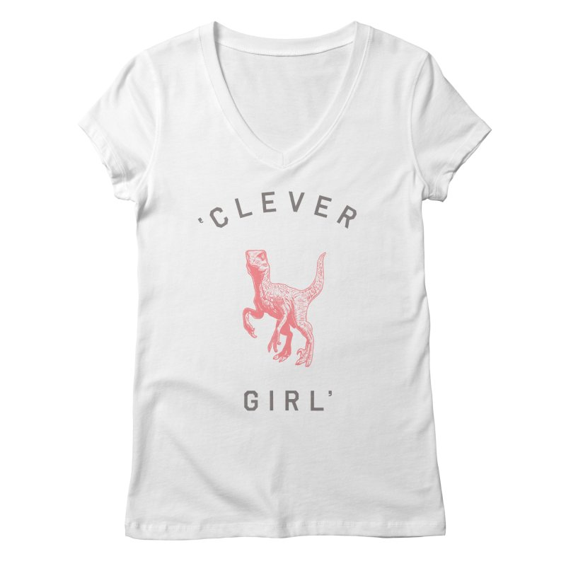 Clever GIrl Women's Regular V-Neck by Speakerine / Florent Bodart