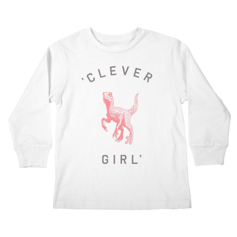 Clever GIrl Kids Longsleeve T-Shirt by Speakerine / Florent Bodart