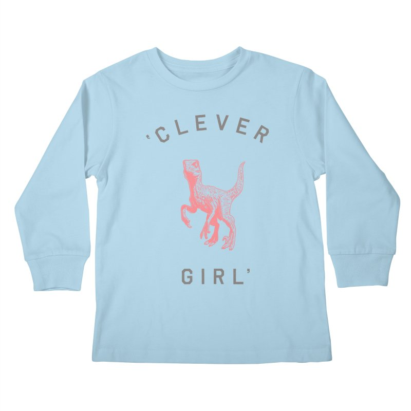 Clever GIrl Kids Longsleeve T-Shirt by Speakerine / Florent Bodart