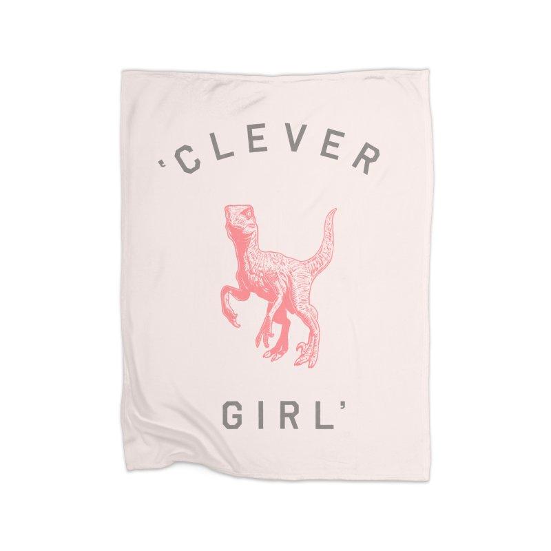Clever GIrl Home Fleece Blanket Blanket by Speakerine / Florent Bodart
