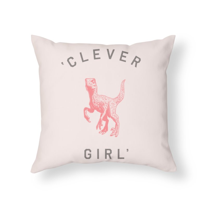 Clever GIrl Home Throw Pillow by Speakerine / Florent Bodart
