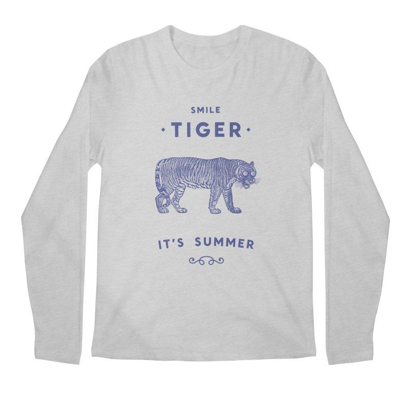 Smile Tiger Men's Longsleeve T-Shirt by Speakerine / Florent Bodart