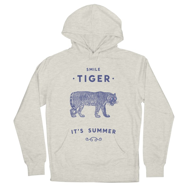 Smile Tiger Women's French Terry Pullover Hoody by Speakerine / Florent Bodart