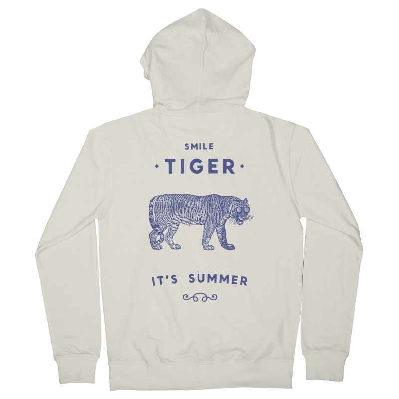 Smile Tiger Women's Zip-Up Hoody by Speakerine / Florent Bodart