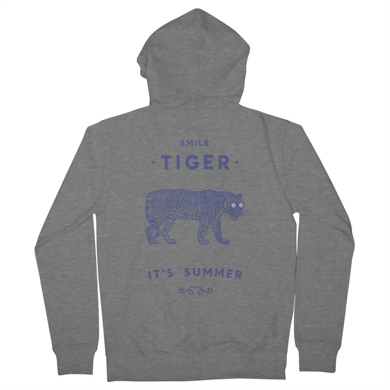 Smile Tiger Men's Zip-Up Hoody by Speakerine / Florent Bodart