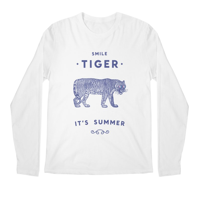 Smile Tiger Men's Regular Longsleeve T-Shirt by Speakerine / Florent Bodart