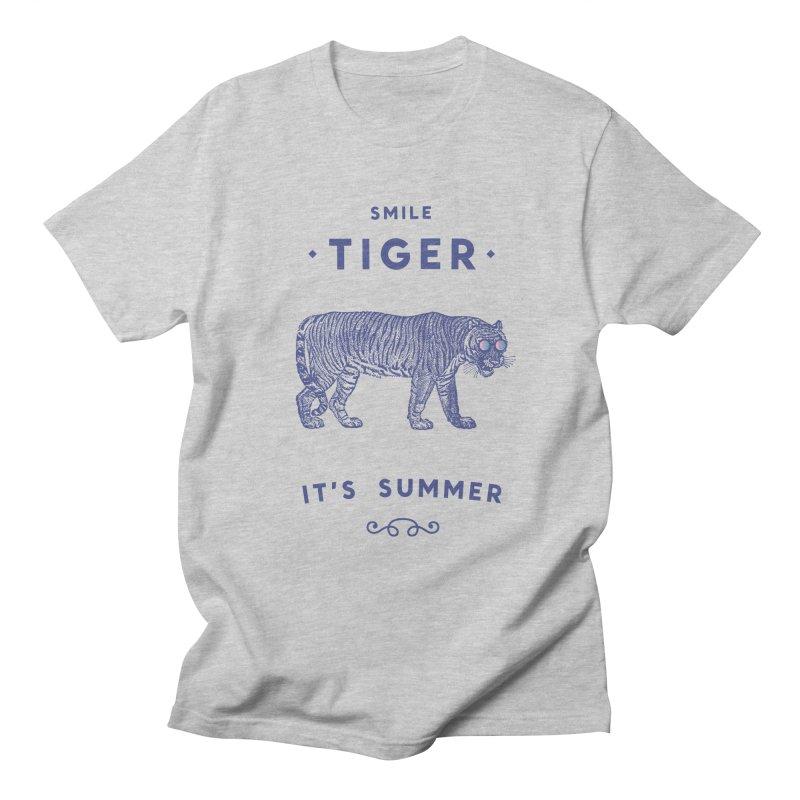 Smile Tiger Men's Regular T-Shirt by Speakerine / Florent Bodart