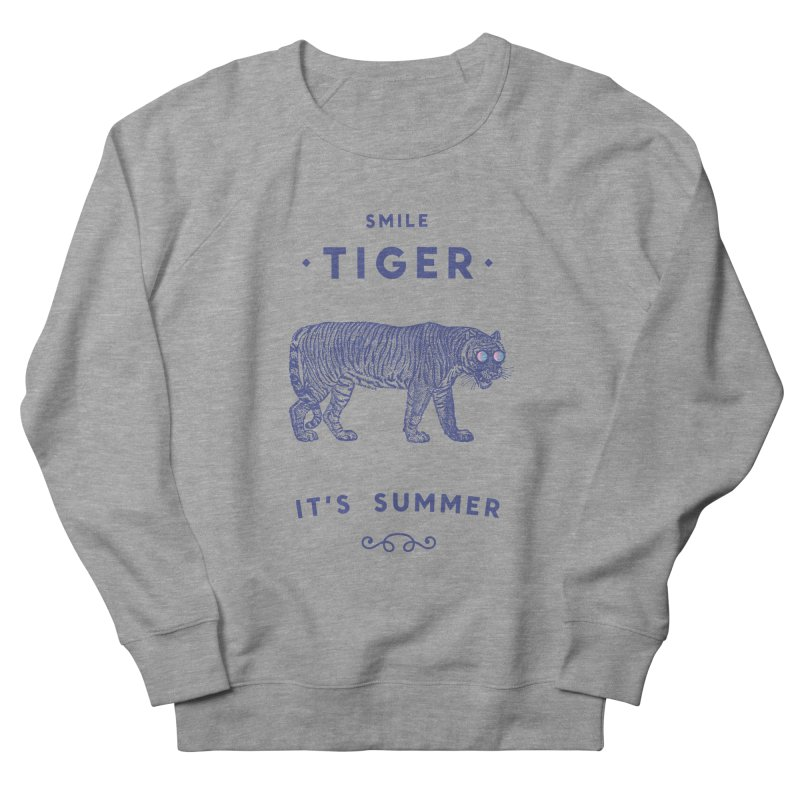 Smile Tiger Women's French Terry Sweatshirt by Speakerine / Florent Bodart