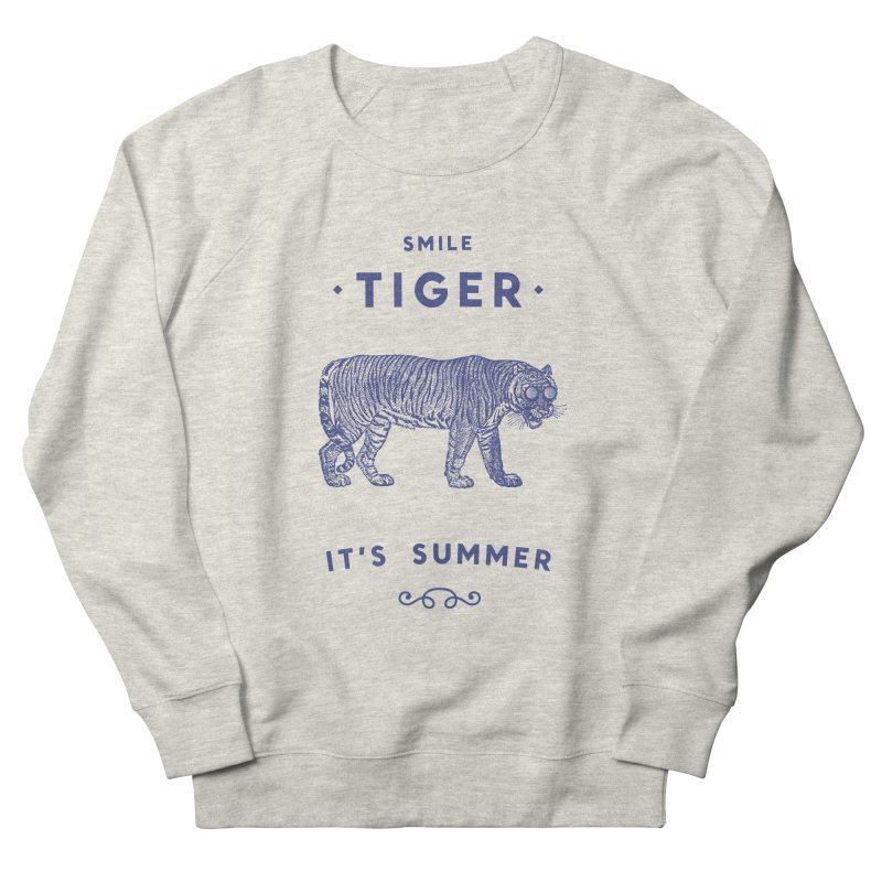 Smile Tiger Men's French Terry Sweatshirt by Speakerine / Florent Bodart