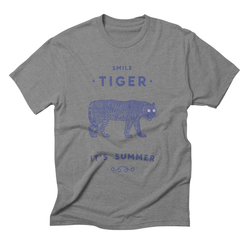 Smile Tiger Men's Triblend T-Shirt by Speakerine / Florent Bodart